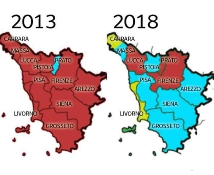 Cartina Politica Toscana.La Mappa Dei Colori E Del Tempo Politico Anche Toscano La Voce Del Serchio Fatti Personaggi Ambiente Cultura E Tradizioni Lungo Il Fiume Serchio