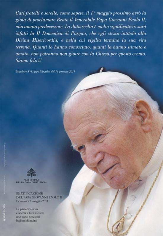 Frasi Natale Karol Wojtyla.Beatificazione Di Papa Giovanni Paolo Ii La Voce Del Serchio